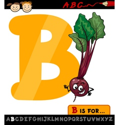 letter b with beet cartoon vector image