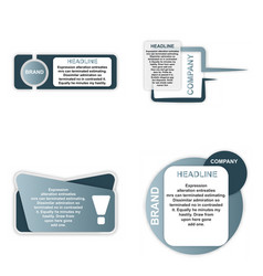 Modern elements infografics template for your vector