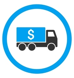 Money Delivery Rounded Icon vector
