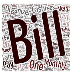 Monthly Bill Organizer How To Stay On Top Of Your vector