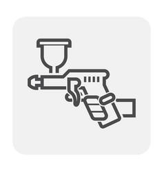 paint gun icon vector image