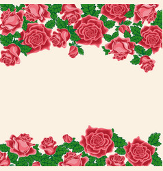 Pattern of red roses vector