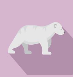 polar bear kid icon flat style vector image