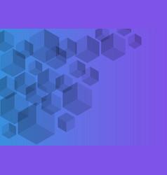 Polygon background hexagons half purple vector