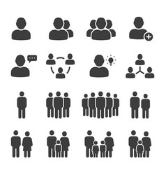 public people icon set vector image