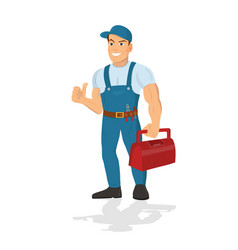 Repairman with the tools technical service vector