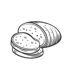 rye bread outline vector image