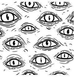 seamless texture wrinkled monsters eyes vector image