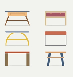 Set Of Modern Console Table vector image