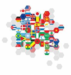 set world flags vector image