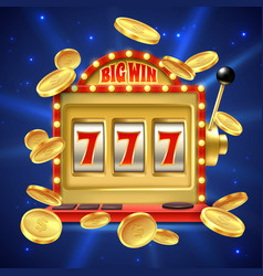 slot machine big win in casino gamble vector image