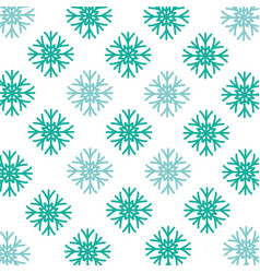 snowflake winter background vector image