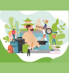 Summer language travel vector