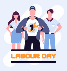 super workers labour day poster vector image