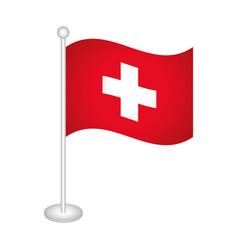 Swiss flag icon vector