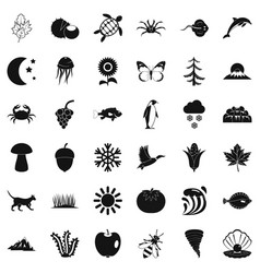 temper icons set simple style vector image