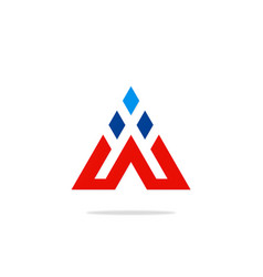 triangle construction technology logo vector image