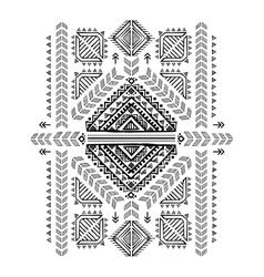 Tribal vintage ethnic background vector image
