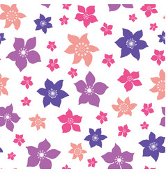 tropical ditsy flowers repeat pattern vector image
