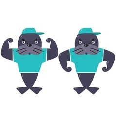 Two funny seals vector