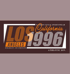 typography los angeles for t-shirt vector image