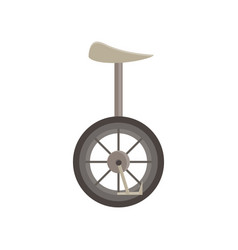 unicycle isolated bicycle wheel cycle one circus vector image