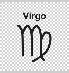 Virgo zodiac sign flat astrology on white vector