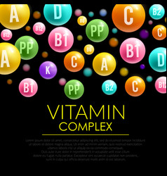 vitamin pill 3d poster for health care design vector image