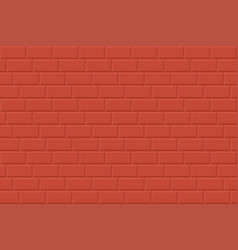wall seamless background - brick texture red vector image