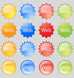Web sign icon world wide web symbol big set of 16 vector