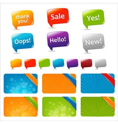 Web Text Boxes And Speech Bubbles vector image