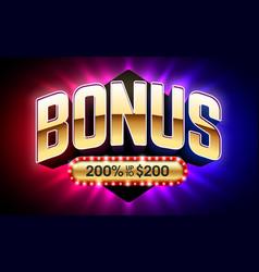 Welcome bonus casino banner first deposit bonus vector