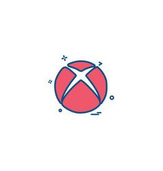 Xbox icon design vector