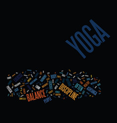 Yoga as a life philosophy text background word vector