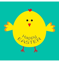 Cute easter chicken Card vector image