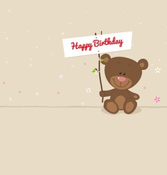 Love bear with signboard vector image vector image