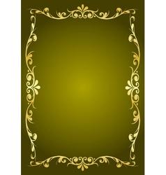Luxury green background vector image