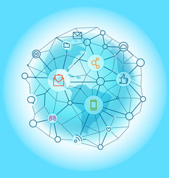 modern global network abstract svheme vector image