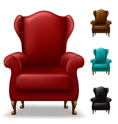 Old armchair set vector image
