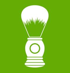 shaving brush icon green vector image