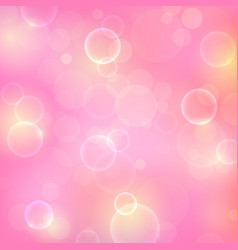 shining pink background with light effects magic vector image