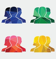 team icon Abstract Triangle vector image vector image