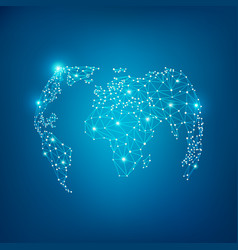 wireframe globe vector image