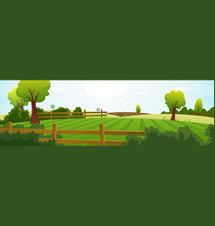 agriculture and farming summer landscape vector image vector image