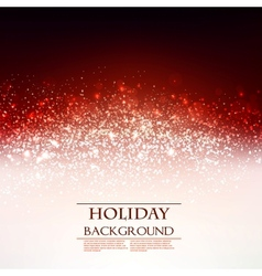 Elegant Christmas Red background with snowflakes vector image vector image