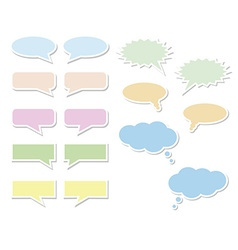 Set of bubbles for speech vector image