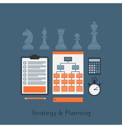strategy concept vector image vector image