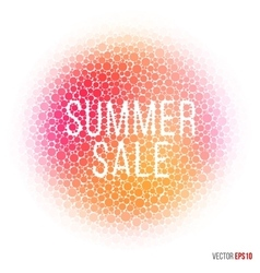 Summer beautiful design element for greeting card vector image vector image