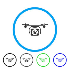 drugs drone shipment rounded icon vector image