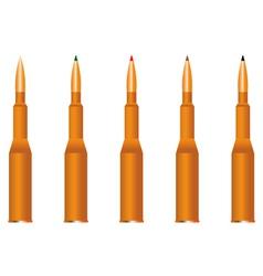 five cartridges vector image